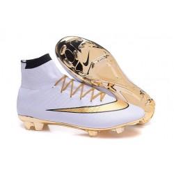 Ronaldo Scarpa Nike Mercurial Superfly 4 FG Bianco Oro