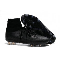 Scarpe da Calcio Neymar Nike Hypervenom Phantom II FG ACC Tutto Nero