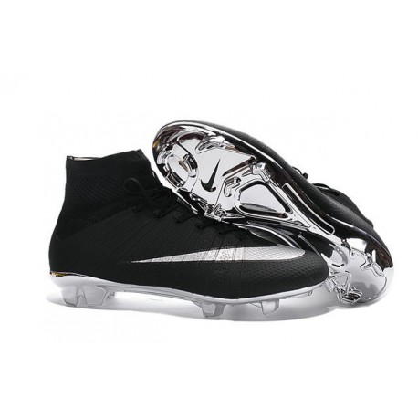 Scarpette da Calcio Uomo Nike Mercurial Superfly FG ACC Nero Metallico