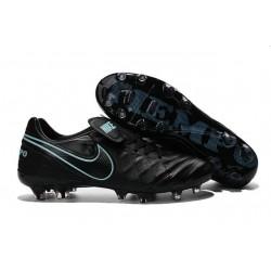 Nike Tiempo Legend 6 FG ACC Scarpini da Calcetto Uomo Nero Blu