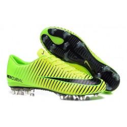 Scarpe da Calcio Nuovo 2016 Nike Mercurial Vapor XI FG ACC Verde Nero