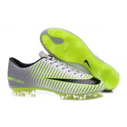 Scarpe da Calcio Nuovo 2016 Nike Mercurial Vapor XI FG ACC Metallico Nero Verde