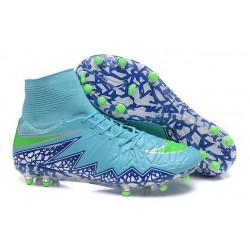 Nuovo Scarpa Nike Hypervenom Phantom 2 Tech FG Blu Viola Verde