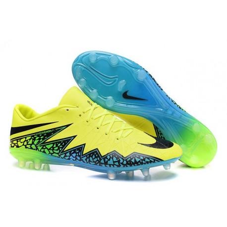 Scarpini Calcetto 2016 Nuovo Nike Hypervenom Phinish FG Verde Blu Nero