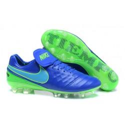 Nike Tiempo Legend 6 FG ACC Scarpini da Calcetto Uomo Blu Verde