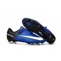 Scarpe da Calcio Nuovo 2016 Nike Mercurial Vapor XI FG ACC Blu Nero Bianco