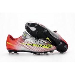 Scarpe da Calcio Nuovo 2016 Nike Mercurial Vapor XI FG ACC Rosso Metallico Giallo