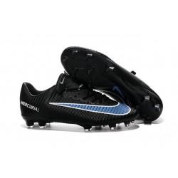 Scarpe da Calcio Nuovo 2016 Nike Mercurial Vapor XI FG ACC Nero Blu