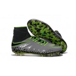 Scarpa da Calcio Nuovo Nike Hypervenom Phantom II FG ACC Nero Grigio