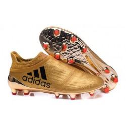 adidas X 16+ Purechaos FG Nuove 2016 Scarpa Calcio Oro Nero