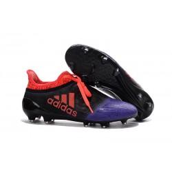 Scarpini da Calcio Nuovo 2016 adidas X 16+ Purechaos FG Nero Viola Rosso