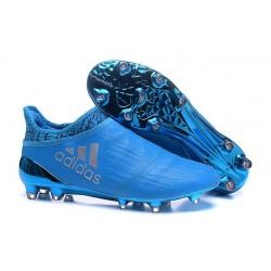 Scarpini da Calcio Nuovo 2016 adidas X 16+ Purechaos FG Blu Metallico