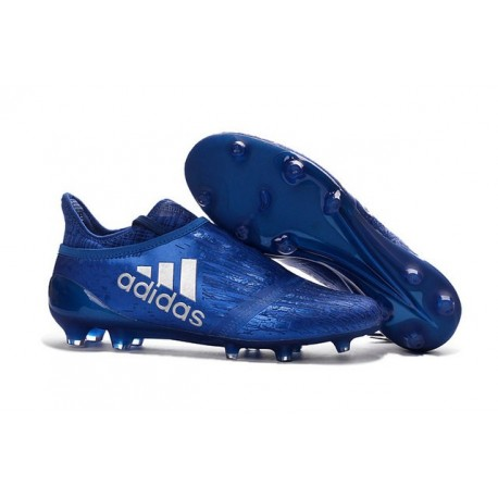 adidas Scarpe da Calcio Uomo X 16+ Purechaos FG/AG Terreni duri Blu Metallico