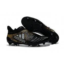 adidas Scarpe da Calcio Uomo X 16+ Purechaos FG/AG Terreni duri Nero Metallico Oro