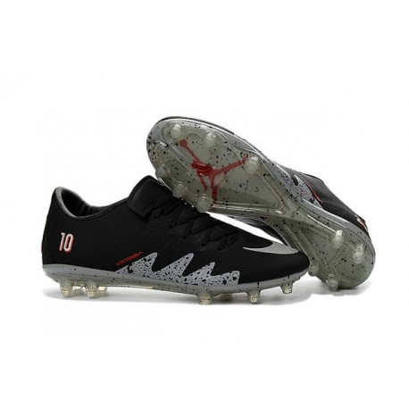 Nike Scarpe Hypervenom Phinish Neymar x Jordan NJR FG Nero Metallico