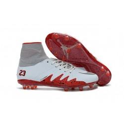Scarpe Nike Hypervenom Phantom II FG - Neymar x Jordan NJR Bianco Rosso