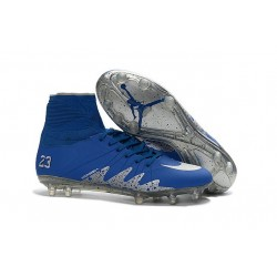 Scarpe Nike Hypervenom Phantom II FG - Neymar x Jordan NJR Blu Metallico