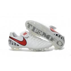 Nike Tiempo Legend 6 FG ACC Scarpini da Calcio Uomo Bianco Rosso