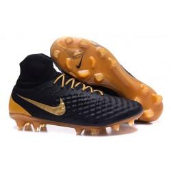 Scarpe da Calcio Nike Magista Obra II FG Uomo Nero Oro