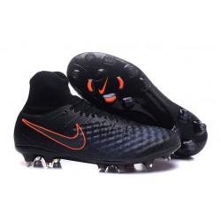 Scarpe da Calcio Nike Magista Obra II FG Uomo Nero Arancio