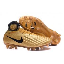 Scarpe da Calcio Nike Magista Obra II FG Uomo Oro Nero