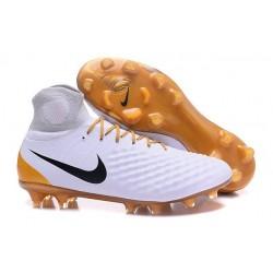 Nike Magista Obra 2 FG Nuove Scarpe da Calcio Bianco Oro