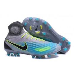 Nike Magista Obra 2 FG Nuove Scarpe da Calcio Grigio Blu Nero