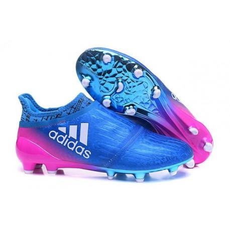 adidas Scarpe da Calcio Uomo X 16+ Purechaos FG/AG Terreni duri Blu Rosa