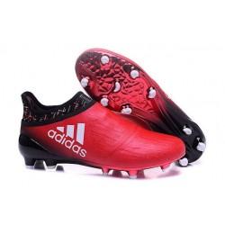 adidas Scarpe da Calcio Uomo X 16+ Purechaos FG/AG Terreni duri Rosso Nero Bianco