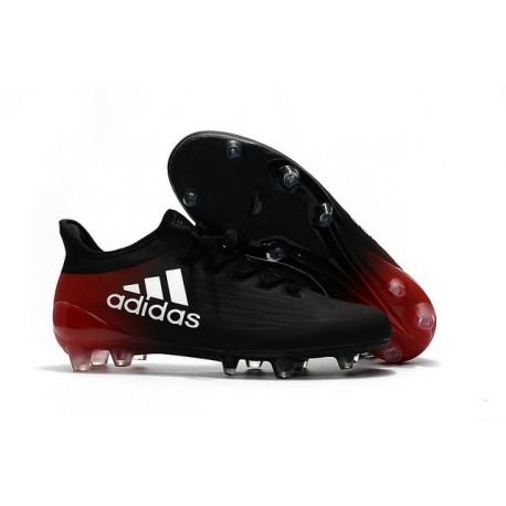 Scarpe da Calcio Adidas X 16.1 FG Nero Bianco Rosso