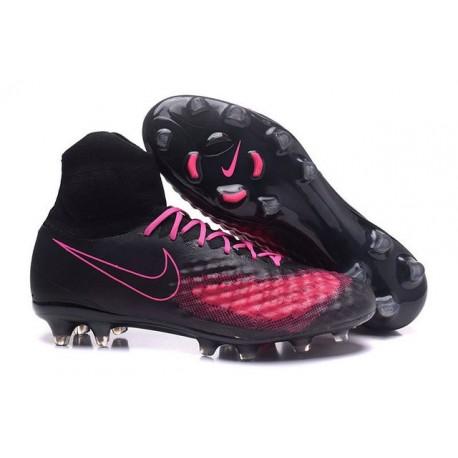 Nike Magista Obra 2 FG Nuove Scarpe da Calcio Nero Rosa
