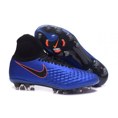 Nike Uomo Scarpa Calcio Magista Obra II FG Blu Nero