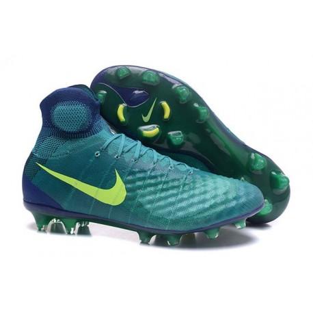 Nike Uomo Scarpa Calcio Magista Obra II FG Verde Giallo