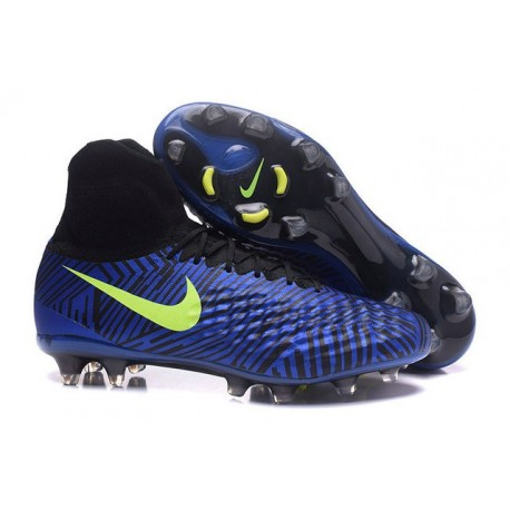 Nike Uomo Scarpa Calcio Magista Obra II FG Blu Nero Giallo