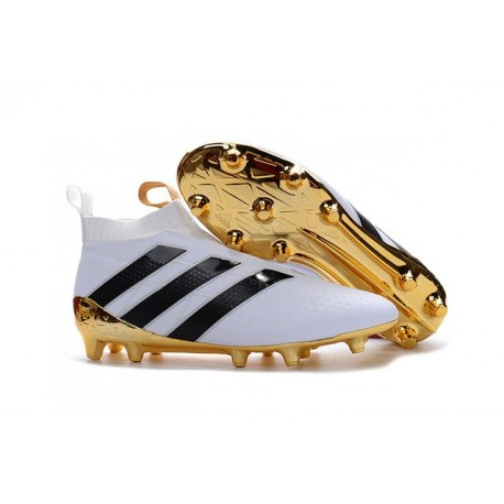adidas Scarpa da Calcio ACE16+ PureControl FG Bianco Oro Nero