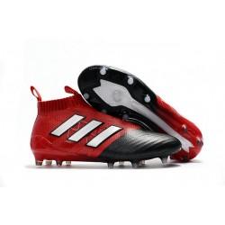 adidas ACE17+ PureControl FG Uomo Scarpe Calcio Rosso Nero Bianco