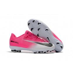 Nuovo Scarpe da Calcio Nike Mercurial Vapor XI FG Bianco Rosa Nero