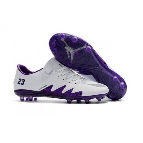 Nike Hypervenom Phinish II FG Scarpe Calcio Neymar X Jordan Bianco Viola