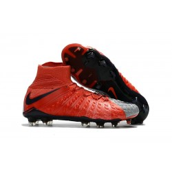 Scarpe Calcio Nuovo Nike Hypervenom Phantom III DF FG ACC - Rosso Grigio
