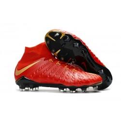 Scarpe Calcio Nuovo Nike Hypervenom Phantom III DF FG ACC - Rosso Oro