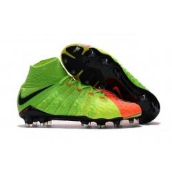 Scarpe Calcio Nuovo Nike Hypervenom Phantom III DF FG ACC - Verde Arancio Nero