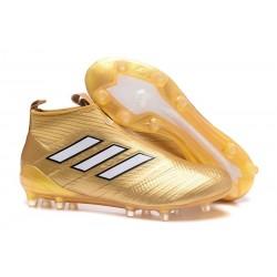 adidas ACE17+ PureControl FG Uomo Scarpe Calcio - Oro Bianco