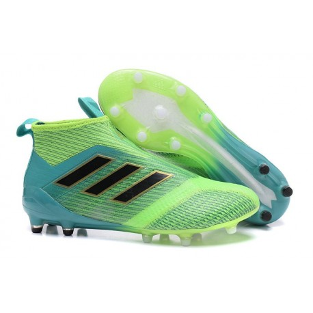 Nuove Scarpa Calcio adidas ACE17+ PureControl FG ACC - Verde Blu