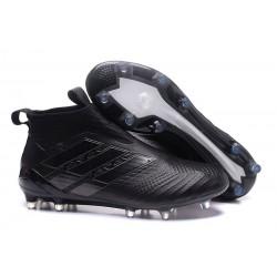 adidas ACE17+ PureControl PRIMEKNIT FG Scarpe - Tutto Nero