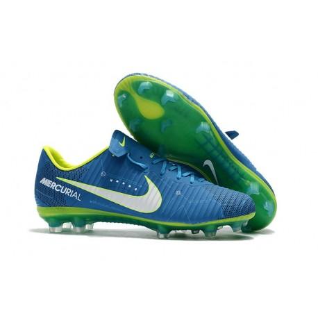 Nike Mercurial Vapor XI FG - scarpa calcio Neymar - Blu Bianco