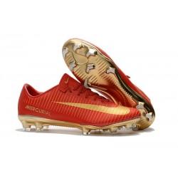 Nike Mercurial Vapor XI CR7 FG - scarpa calcio uomo - rosso oro