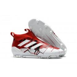 adidas Scarpa ACE 17+ PureControl Laceless FG - Rosso Bianco
