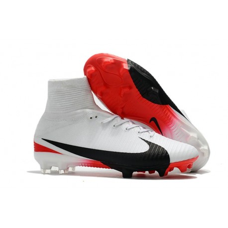 Scarpa Calcio Nuovo Nike Mercurial Superfly V FG ACC Bianco Rouge Noir