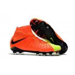Nike Hypervenom Phantom III DF FG Flyknit Scarpe Calcio - Amarillo Giallo