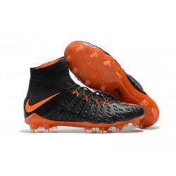 Nike Hypervenom Phantom III DF FG Flyknit Scarpe Calcio - Nero Arancio